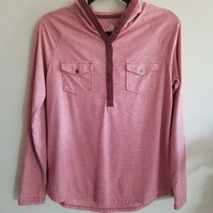 ASCEND M red hooded shirt